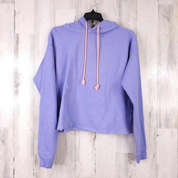 Wild Fable Cropped Top Hooded Fleece Sweatshirt